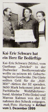 SZ-Artikel vom 01.12.1999 – Draufklicken zum Vergrößern!