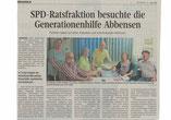 Presseartikel  Besuch SPD Gemeinsampreis Generationenhilfe Abbensen Jung und Alt Peine Abbensen
