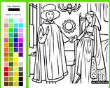 online kleuren : Arnolfini & zijn vrouw