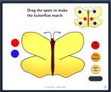 geef de vlinder de juiste stippen