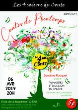 """La conteuse Sandrine Rouquet au festival """"Les 4 saisons du conte"""""""