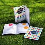 kleurrijk receptenboekje, huisstijl, drukwerk, gevouwen brochure