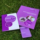 gevouwen folders, paars, huisstijl, visitekaartjes, met foto's, Centrum Chai, Baarn