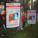 Poster, A0, Huizen, Ouder & Kinder Festival, week van de opvoeding, langs de weg