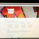 Webdesign, Bureau Prikbord, beeld, buttons, in een stijl