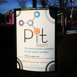 poster A0, Welzijn Baarn, Pit Baarn, Baarn, in een huisstijl, 1 lijn, hoort bijelkaar, logo ontwerp, huisstijl ontwerp