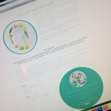 Webdesign, Miss Detox, ronde vormen, lichte kleuren