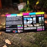 flyers vierkant, logo ontwerp, kleurrijk, foto natuurgebied, Runners United, Loosdrecht, Hilversum, cross events