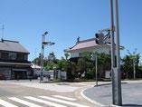 大手門から掛川城を望む