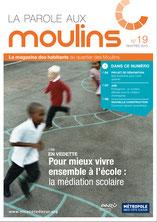 Magazine des habitants du quartier des Moulins à Nice rédigé par Solweg