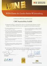 WIN-Charta Urkunde der CMC Sustainability GmbH