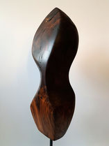 modern, abstrakt, nussbaum, edelholzskulptur, gunnar mozer
