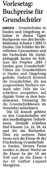 Ostfriesenzeitung 26.01.2021