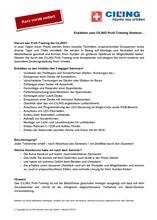 Bild der Vorabinfo zum Profitraining CILING Seminar www.spanndecken-akademie.de