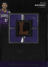 RON ARTEST / Letterman Patch - No. QP-RA  (#d 3/9)