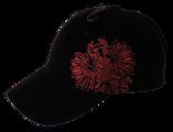 Kappe Tiroler Adler schwarz, Stick rot, Underpeak Karo rot