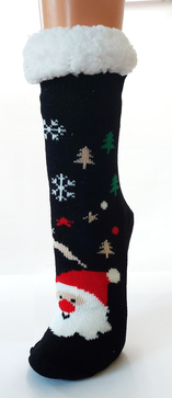 Plüschsocken Weihnachtsmotiv, X-Mas