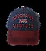 Kappe Original Austria blau-weinrot