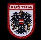 Stoffwappen Austria Adler rot