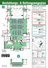 Erdgeschoss und Empore Bestuhlungsplan für 373 Plätze