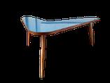 table basse, table restaurée, table customisée, table unique, piece unique,formica, table design, decoration, interior, interieur, homeware, furniture, mobilier restauré,mobilier vintage, meubles vintages, meubles restaurés, mobilier customise, bleu tur