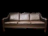 canape, sofa, cuir , 3 places, danish, sofa vintage, canape vintage, mobilier vintage, meubles vintages,