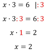 Beispiel für die Äquivalenzumformung mithilfe der Division