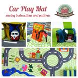 Car play mat, Street mat, Activity mat Road mat sewing instructions tutorial pattern