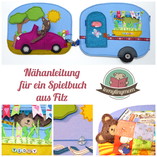 Spielbuch  nähen , how to make a Quiet book Activity book