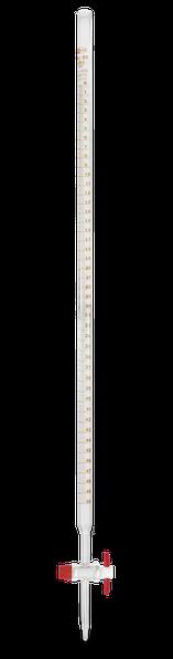 Bureta recta clase B con llave de PTFE 114.424