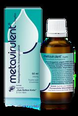 Verpackung von metavirulent mit Flasche