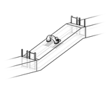 Inclined concrete implementation of the 2-Chamber-Organismbypass