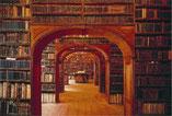 Blick in eine alte Bibliothek