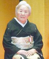 高齢者叙勲の旭日双光章を受章した宇根雪子さん=7日夕、市民会館中ホール