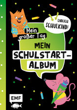 Schule Schulstart Schulstartalbum Einschulung Eintragalbum Schulalbum Freundealbum Kinderkreativ Kinderbuch EMF Schulkind Illustration Illustratorin Sandy Thissen