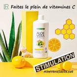 Le plein Vitamine C. Fabriqué avec 85 % de gel de feuille d'Aloe Vera, le nouveau Gel à boire Aloe Vera Immune Plus est enrichi avec des stimulants immunitaires traditionnels tels que le gingembre, le citron et le miel. Immune Plus soutient votre immunité