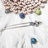 pic à cheveux, pique à cheveux , pic à chignon , épingle à cheveux , épingle à chignon , hairstick , hairpin , perles , perles en verre , perles fantaisie , bijou perle , beads , glass bead , bead jewelry , comment mettre un pic à cheveux? ,