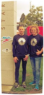 Marc und ich waren die nominierte Partnergästen für Zeuthen...