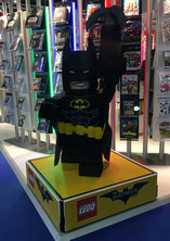 Auch Batman war vor Ort.