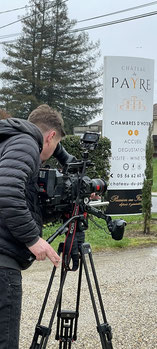 Great report for a Polish TV show about life at the Château du Payre