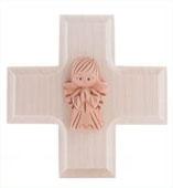 Holzkreuz Engel quadratisch