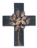 Schmuckkreuz Lebensbaum Bronze