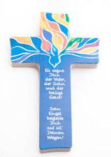 Holzkreuz Taube Gott segne dich