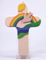 Kinderkreuz Taube Regenbogen