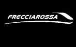 """Logo treno """"FRECCIAROSSA""""."""