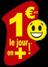 1 euro le jour en plus