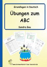 Schreibschrift üben, Alphabet übungen, ABC übungen, Unterrichtsmaterial abc, nach abc sortieren, malen nach dem abc