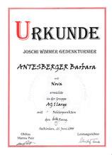 6. Joschi-Wimmer-Gedenk Agilityturnier am 21. Juni 2008 beim HSZV in Eugendorf