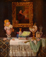 """#48-L. Augustin, signed, dated 1924,  oil, 10"""" x 8.5"""""""