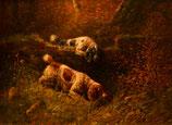 "#16-E. Petit, signed oil on canvas, 22"" x 26"""